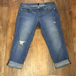 Gap straight crop jeans